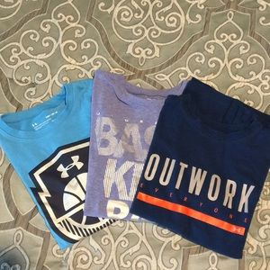 Lot of 3 boys Under Armour t shirts